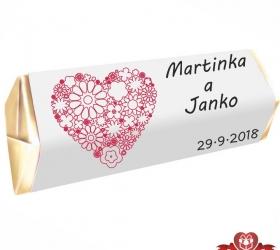 Svadobná čokoládka pre hostí - stredná SC101