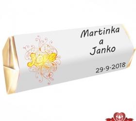 Svadobná čokoládka pre hostí - stredná SC103