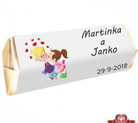 Svadobná čokoládka pre hostí - stredná SC105