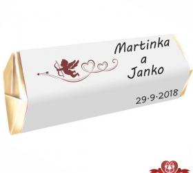 Svadobná čokoládka pre hostí - stredná SC107
