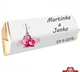 Svadobná čokoládka pre hostí - stredná SC109