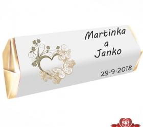 Svadobná čokoládka pre hostí - stredná SC114