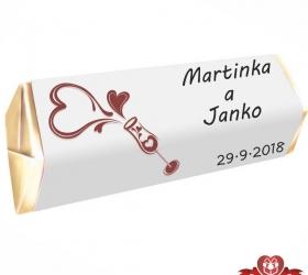 Svadobná čokoládka pre hostí - stredná SC115