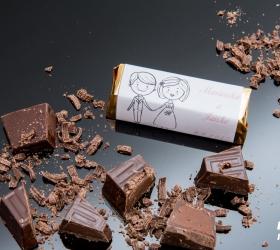 Svadobná čokoládka pre hostí - stredná SC02