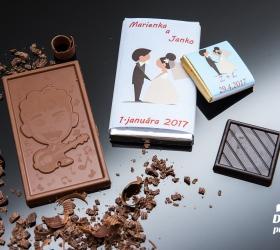 Svadobná mini čokoládka SMC01