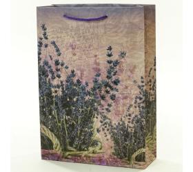 Darčeková taška levanduľa v košíku 25x8,5x34,5cm