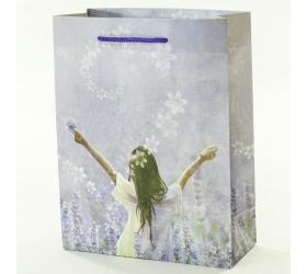 Darčeková taška levanduľové dievča 8x18x23cm