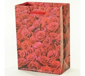 Darčeková taška ruže červené 11,5x6x16cm