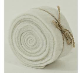 Plstená stuha biela 5x200 cm