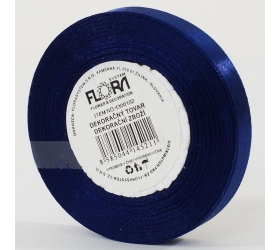 Saten stuha 10mm/15m modrá tm. farba 153