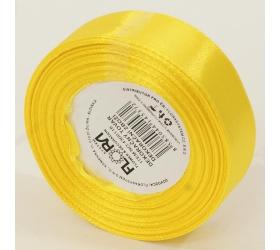 Saten stuha 20mm/15m žltá farba 132