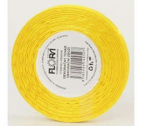 Saten stuha 6mm/20m žltá farba 132