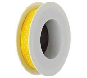 Stuha bodky žltá 10mmx10m