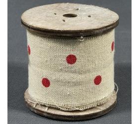 24fl1945 stuha platno-bodky rolka 3m