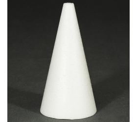 Polystyrén kužeľ 15 cm