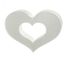 Polystyrén srdce obrys 15 cm