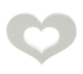 Polystyrén srdce obrys 20 cm