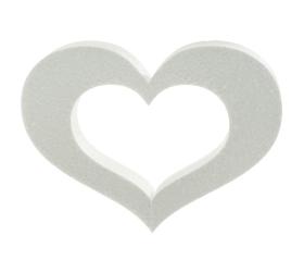 Polyst. srdce obrys 25cm/60/