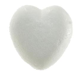 Polystyrén srdce plné 6 cm