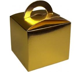 25x Darčekové Mini Krabičky - Zlaté