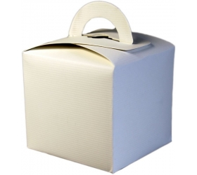 25x Darčekové Mini Krabičky - Biele