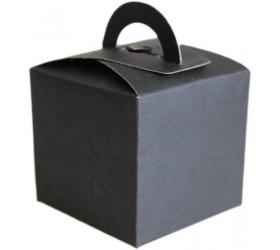 25x Darčekové Mini Krabičky - Čierne