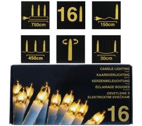 Ax1001000 led svetielka 16ks sviečky