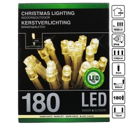 LED svetielka 180ks transparent