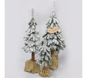 Vianočný stromček na kmienku osnežený 80cm