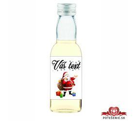 Vianočná mini fľaštička alkoholu VF004