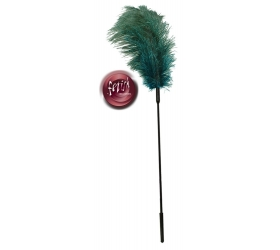 Fetish Collection - hladkadlo zo pštrosieho peria tyrkysové