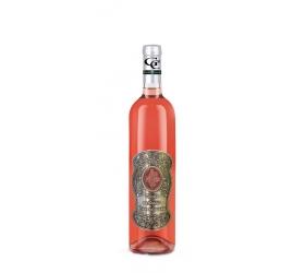 00 rokov Darčekové víno ružové - kovová etiketa