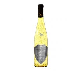 1,5 L Svadobné  Darčekové Biele so zlatom  Kovová etiketa Renana