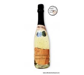 0,75l Gold Cuvee šumivé víno so zlatom Vianočné / novoročné  - drevené