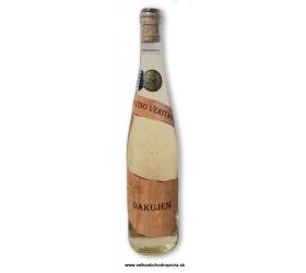 Etiketa z dreva - Ďakujem - Víno s 23 karat. zlatom 0,75 l