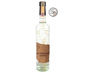 Darčeková fľaša - vodka (borovička) so zlatom Drevená - Výnimočný človek