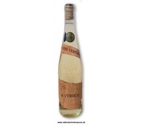 Etiketa z dreva - K výročiu - Víno s 23 karat. zlatom 0,75 l
