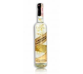 Darčeková fľaša - vodka (borovička) so zlatom Všetko najlepšie - zlatá ribbon