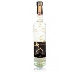 Darčeková fľaša - vodka (borovička) so zlatom najlepší futbalista