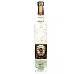 Darčeková fľaša - vodka (borovička) so zlatom najlepší hasič
