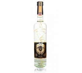 Darčeková fľaša - vodka (borovička) so zlatom najlepší policajt