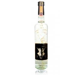 Darčeková fľaša - vodka (borovička) so zlatom najlepší poľovník