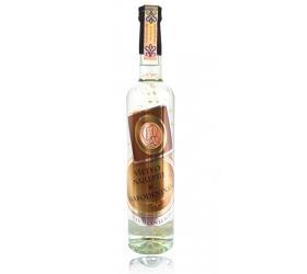 Darčeková fľaša - vodka (borovička) so zlatom narodeniny medená etiketa (0-90)