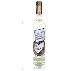 Darčeková fľaša - vodka (borovička) so zlatom Pre ženícha