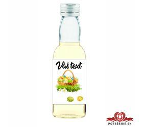 Veľkonočná mini fľaštička s alkoholom, motív V063