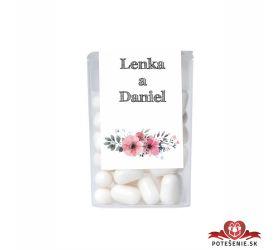 Dražé cukríky pre svadobných hostí, motív S103