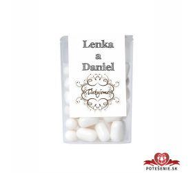 Dražé cukríky pre svadobných hostí, motív S277