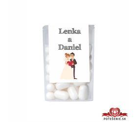 Dražé cukríky pre svadobných hostí, motív S287