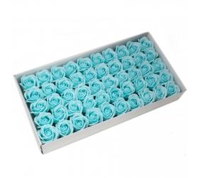 Mydlové Kvety - Stredná Ruža - Pastelová Modrá
