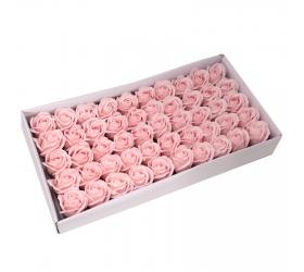 Mydlové Kvety - Stredná Ruža - Pastelová Ružová
